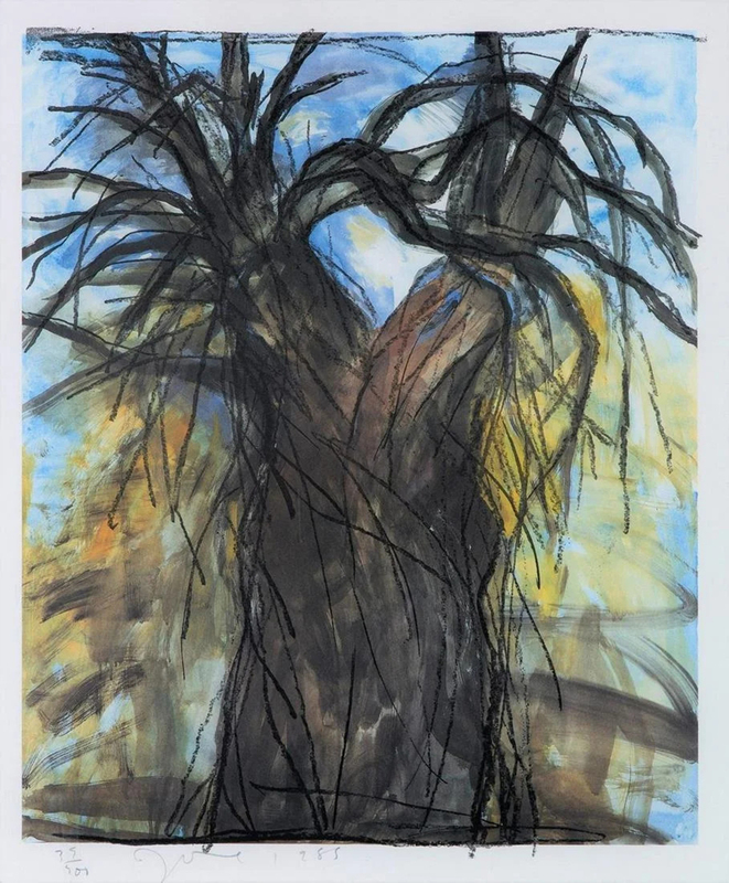 Jim DINE - Stampa-Multiplo - The New Year's Tree