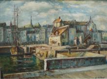 Gaston LABORDE - Painting - HONFLEUR