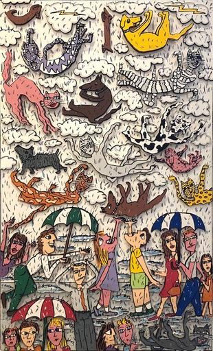 詹姆斯·里齐 - 版画 - Its Raining Cats, and Dogs
