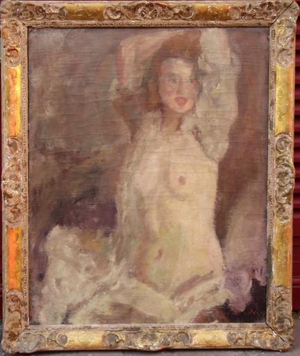 Jean Alfred ADLER - Pintura - NU AUX BRAS LEVES