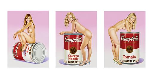 Mel RAMOS - Grabado - Campbell`s Soup Blondes