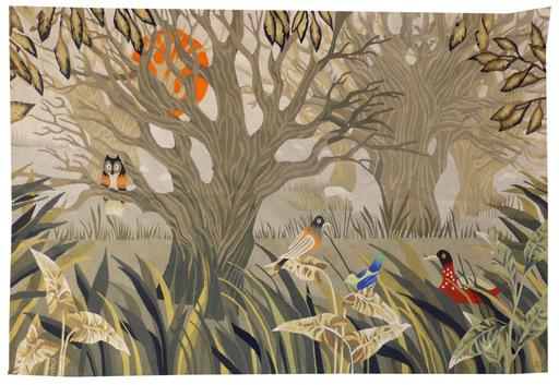 René FUMERON - Tapestry - la châtaigneraie