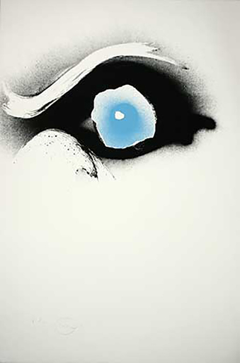 Otto PIENE - Estampe-Multiple - Seuloeil blau/schwarzes Auge