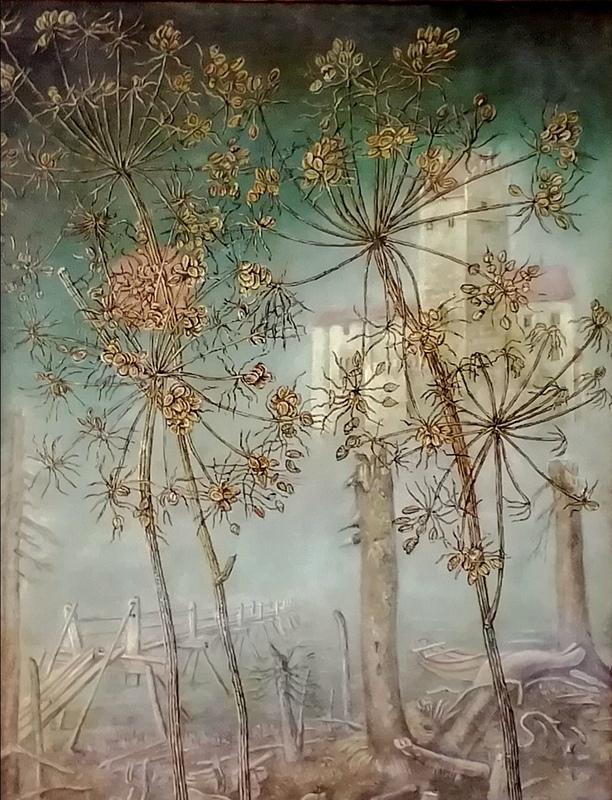 Erich GARGERLE - Pintura - Das Schloss (nach Franz Kafka)