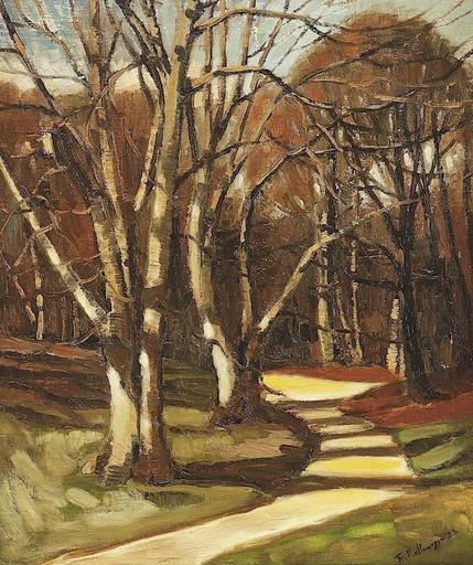 Friedrich KALLMORGEN - Peinture - Weg im Birkenwäldchen