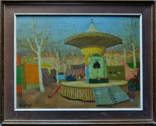 CLÉMENT-SERVEAU - Peinture - La fête foraine, le vieux manège
