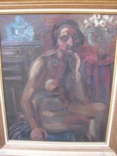 Henri LE FAUCONNIER - Pintura - NU AU BOUDDHA