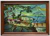 Hendra GUNAWAN - Pintura - Women and Cattle-Charts Convey in Landscape