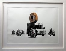 班克斯 - 版画 - Donuts Chocolate signed