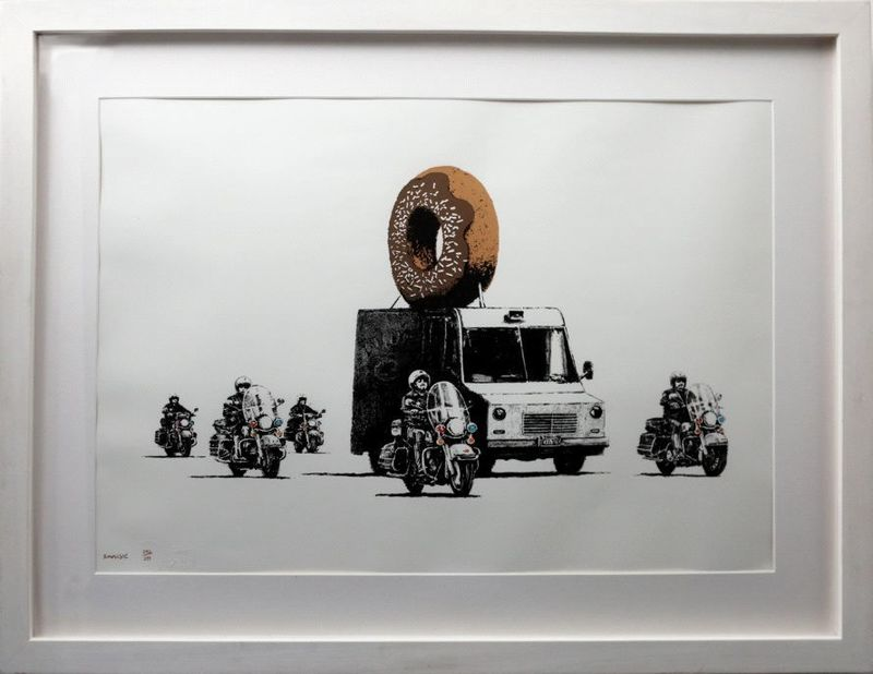 BANKSY - Print-Multiple - Donuts Chocolate signed