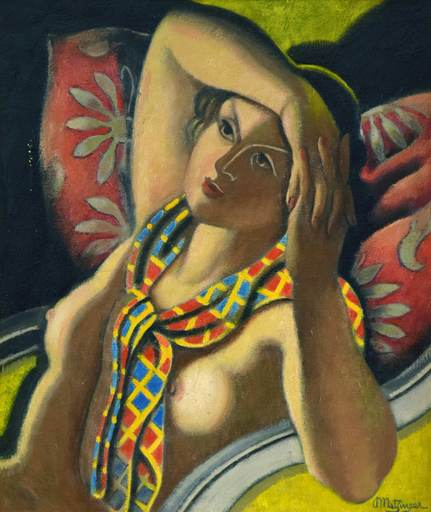 Jean METZINGER - Painting - Femme Nue dans un Fauteuil