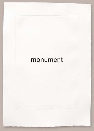 Heinz GAPPMAYR - 版画 - Monument