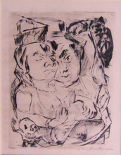 Max BECKMANN (1884-1950) - Illustration for Chapter Five, from: The Duchess | Die Fürst