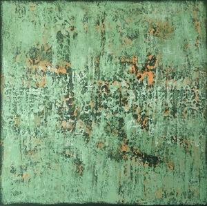 Ulie SCHWAB - Painting - Naissance végétale