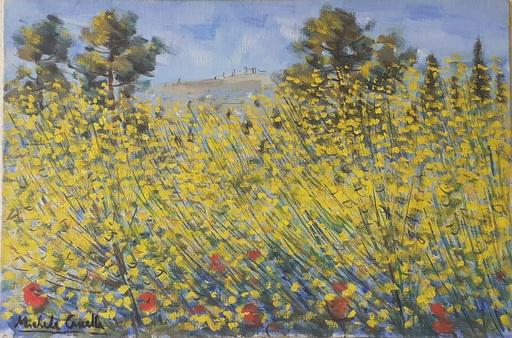 Michele CASCELLA - 绘画 - paesaggio con ginestre