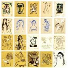Mikhail LARIONOV - Print-Multiple - VOYAGE EN TURQUIE: A COMPLETE SET OF 32 POCHOIRS