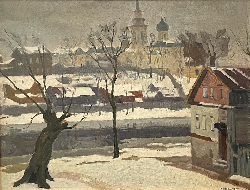 Arnold Borisovich LAKHOVSKY - Painting - Pskov