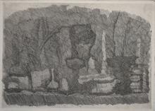 Giorgio MORANDI - Estampe-Multiple - Still Life with Vases, Bottles etc. on a Table