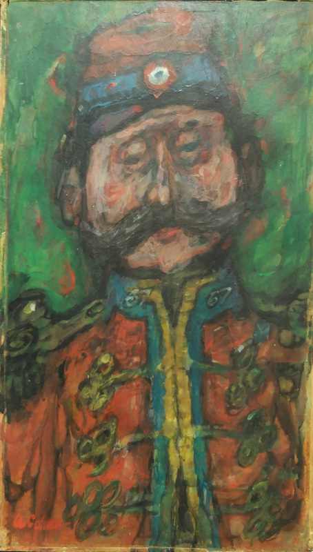 Alfred COHEN - Pintura - Le soldat