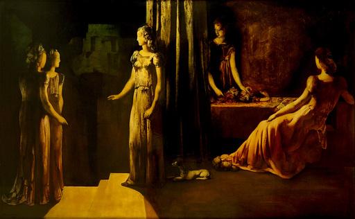 Marcel DELMOTTE - Gemälde - Les vestales
