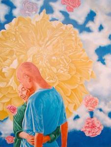 FANG Lijun - Grabado - Flower