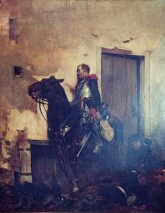 Georges HYON - Painting - Grenadiers à cheval