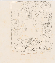 Cuno AMIET - Drawing-Watercolor - Bildnis Ines Meister