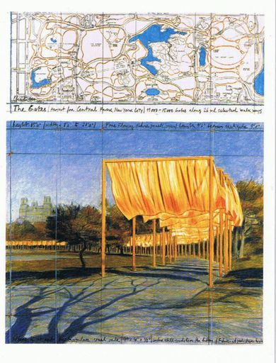 CHRISTO - Print-Multiple - The Gates: Project for Central Park, New York City III