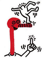 Keith HARING (1958-1990) - The story of red + blue (1)
