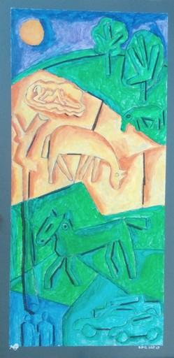 Harry BARTLETT FENNEY - Pittura - chevo vert