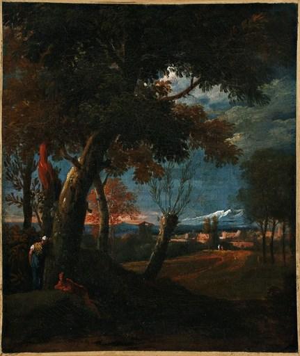 Marco RICCI - Pittura - Paesaggio con figure