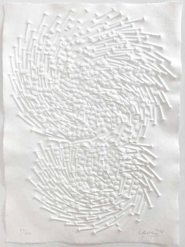 Günther UECKER - Druckgrafik-Multiple - Doppelspirale