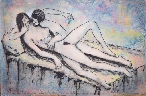 Arturo BUERGO - Drawing-Watercolor - Para Mary: Un principio desde el fondo de una cueva vale mas