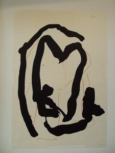 "Robert MOTHERWELL (1915-1991) - ""Beau GesteV"" 1989"