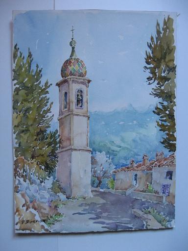 Pierre BORFIGA - Dessin-Aquarelle - Saint Antoine de Siga