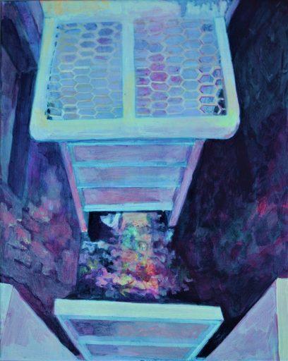 Aude MOUILLOT - Painting - « Focus étang 9 »