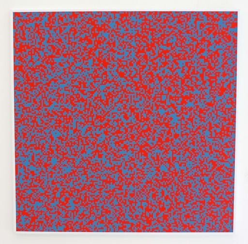 François MORELLET - Print-Multiple - 40'000 Carrés (rouge)