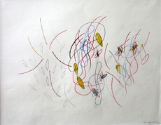 Oswald OBERHUBER - Drawing-Watercolor - Ohne Titel, 86