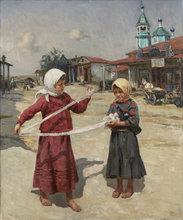Vladimir Vasil'evich LEBEDEV - Painting - Rolling Lace