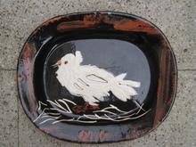 Pablo PICASSO - Céramique - PLAT PIGEON  1949