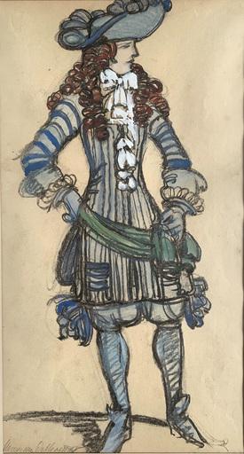 Maxime DETHOMAS - Zeichnung Aquarell - Gentilhomme