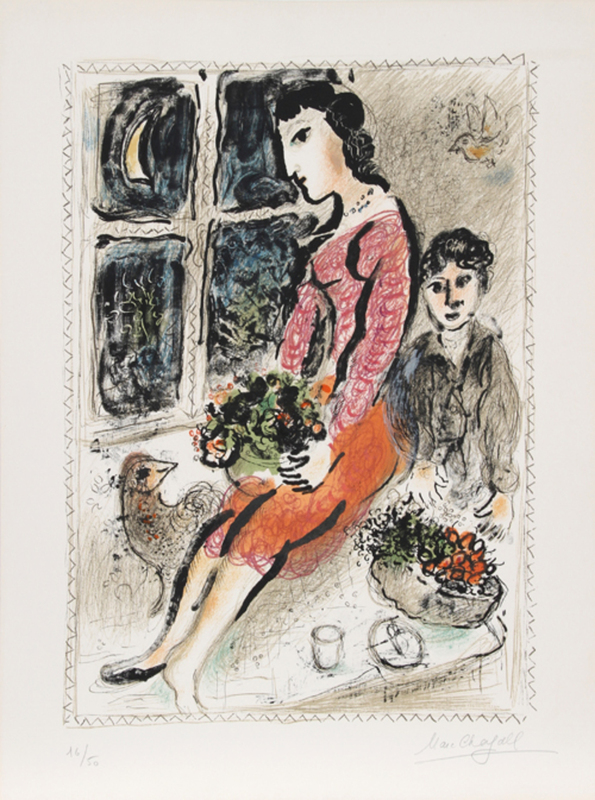 Marc CHAGALL - Stampa Multiplo - Le Corsage Violet