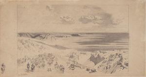 Alberto PASINI - Drawing-Watercolor - Transito di una Carovana tra la Persia e il Khorasan