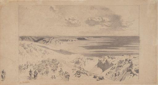 Alberto PASINI - Dessin-Aquarelle - Transito di una Carovana tra la Persia e il Khorasan