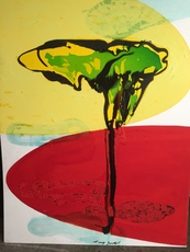 Tony SOULIÉ - Pintura - Dreamed Flower iv