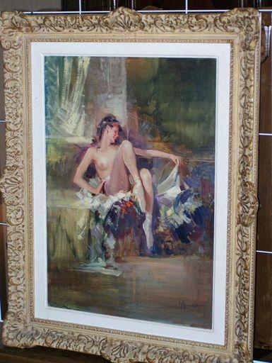 Giordano GIOVANETTI - Pintura - ballerina resting