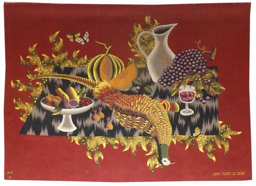 Jean PICART LE DOUX - Tapestry - Nature morte au faisan