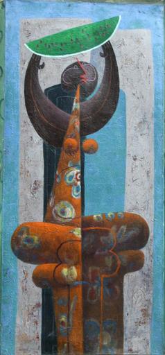 Jorge VALLEJOS - Painting - Personaje Con Sanda
