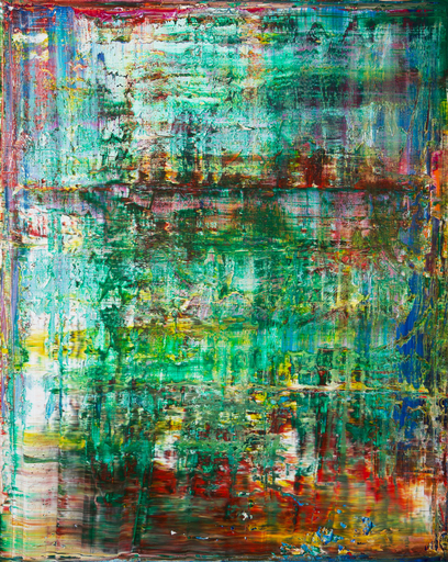 Harry James MOODY - Peinture - abstract green No.424