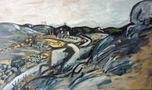 Auguste CHABAUD - Pintura - Le mas de Chausse dans la montagnette